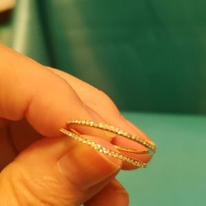 Womens size 9 10K gold rings with diamonds